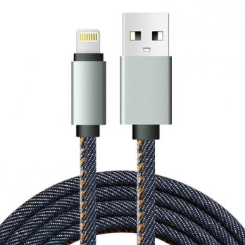 iPad Lightning kabel 1 meter spijkerstof