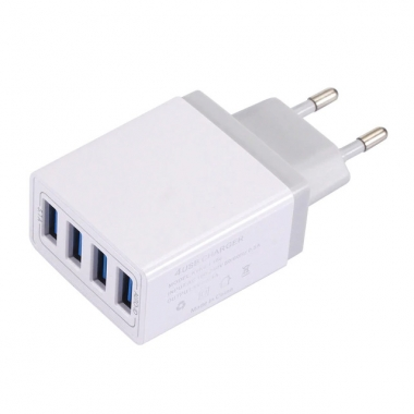 USB adapter met 4 poorten wit
