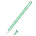 Siliconen huls en puntbeschermer voor Apple Pencil 2 cyaan
