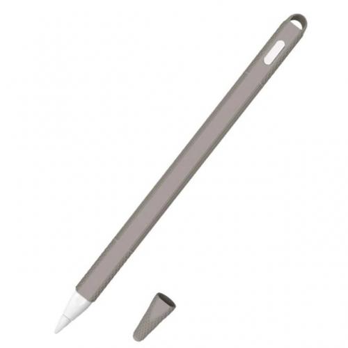 Siliconen huls en puntbeschermer voor Apple Pencil 2 grijs