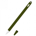 Siliconen huls en puntbeschermer voor Apple Pencil 2 legergroen
