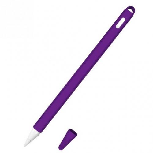 Siliconen huls en puntbeschermer voor Apple Pencil 2 paars