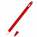Siliconen huls en puntbeschermer voor Apple Pencil 2 rood