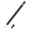 Siliconen huls en puntbeschermer voor Apple Pencil 2 zwart